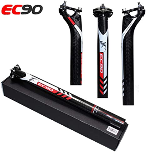 TOSEEK 3K Carbon Seatpost Offset MTB Road Bike Bicycle Seatpost 27.2//30.8//31.6mm