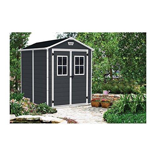 Keter 12 - 939202 Chalet y jardín caseta de resina Premium 86dd Ant, antracita, 185.8 X 236.8 X 227 cm: Amazon.es: Jardín