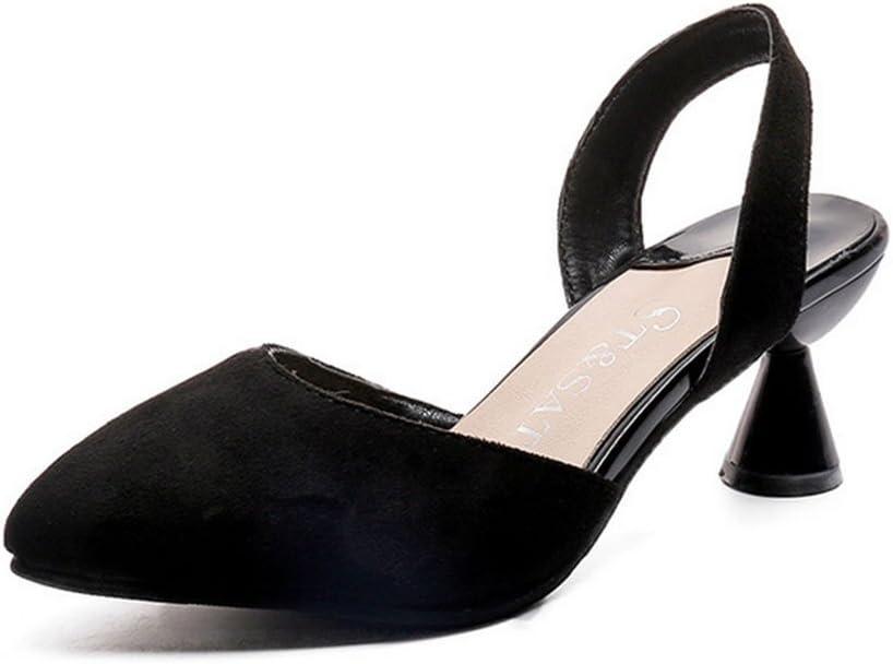 MEILI Mediano con fina con sandalias chinas puntiagudas sandalias ...