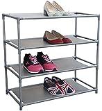 Home Basics Free-Standing Shoe Rack (4-Tier)