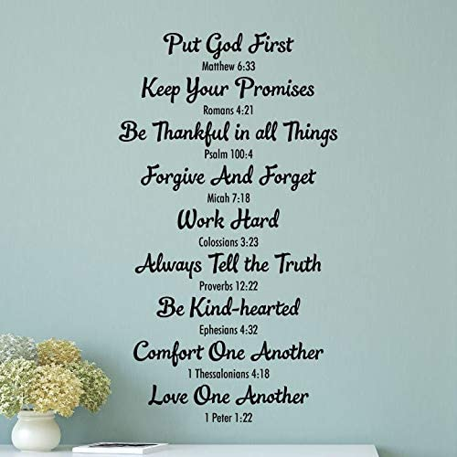 com littledollz wall quote decal bible family rules