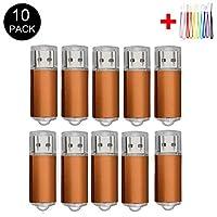 10PCS 2.0/3.0 USB Flash Drive Pen Drive Memory Stick Thumb Stick Pen Black (2.0/2GB, Orange)