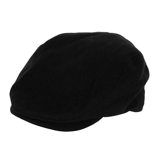 3d35f9021acb6d Fashion Unisex Autumn Skull Flat Buckle Vintage Beret Caps Hot Solid Berets  Men's Leisure Visors Casual Hats at Amazon Women's Clothing store: