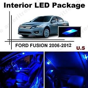 Ameritree ford fusion 2006 2012 8 pcs blue led lights interior package kit for Led lights for car interior amazon