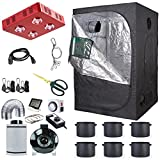 Hydro Plus 48''x48''x80'' Grow Tent Complete Kit w/ Grow Light & Inline Fan Filter Exhaust System & Hydroponic Indoor Plants Growing Accessories (LED800W Light Kit2)