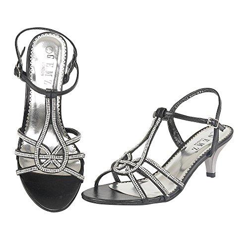 Kengät Hyvät Musta Gemz Lontoo Häät Koko Diamante Ilta Puolivälissä Prome Sandalit Naisten Uusi v7qzZwv