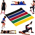 NOMENI Home Gym Fitness Resistance Loop Exercise Bands Yoga pull with fitness strap,Set of 5
