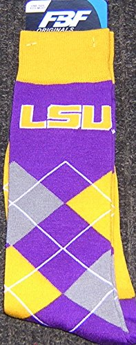- NCAA LSU Tigers Argyle Unisex Crew Cut Socks - One Size Fits Most ...