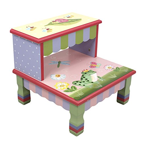 Magic Garden (Teamson Design Corp Fantasy Fields - Magic Garden Thematic Kids Wooden Step Stool | Imagination Inspiring Hand Crafted & Hand Painted Details Non-Toxic, Lead Free Water-based Paint)