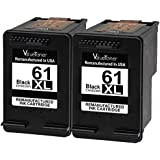 Valuetoner Remanufactured Ink Cartridge Replacement for HP 61 XL HP 61XL (2 Black) CH563WN for HP Envy 4500 5530 5534 5535, HP OfficeJet 4635 4630 2620, HP DeskJet 3000 3050 1000 1010 1512 Printer