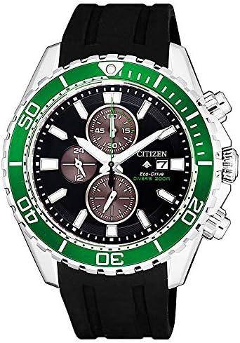【セット商品】[シチズン]CITIZEN 腕時計 PROMASTER プロマスター エコ・ドライブ ダイバー200m クロノグラフ CA0715-03E &マイクロファイバークロス 13×13cm付き [逆輸入品]