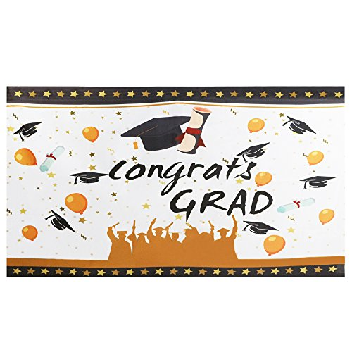 "(Mosoan Large Graduation Banner | Graduation Party Decorations | Congrats Grad Banner Sign Supplies, 71"" x 40"")"