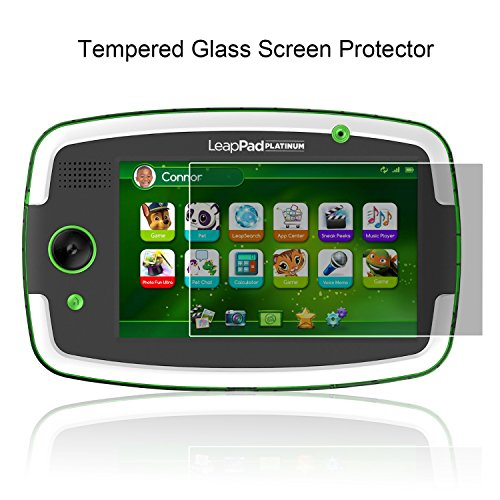 ACdream LeapPad Platinum Screen Protector, Premium Tempered Glass Screen Protector for LeapFrog LeapPad Platinum Kids Learning Tablet (NOT FIT LeapPad3), Ultra Clear Screen Protector (Leappad Screen Replacement)