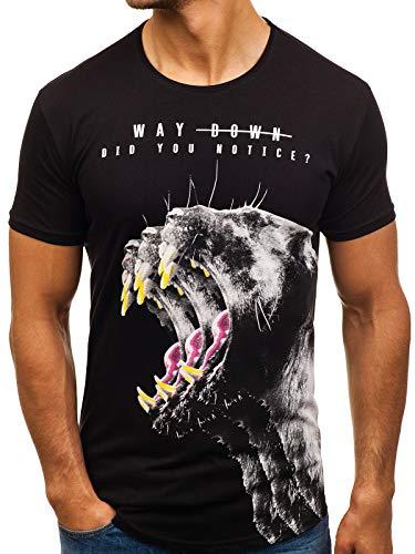 Rond 181519 shirt T Manches Mode 3c3 Col Noir Bolf Courtes Homme – Imprimé a T761W8Wq