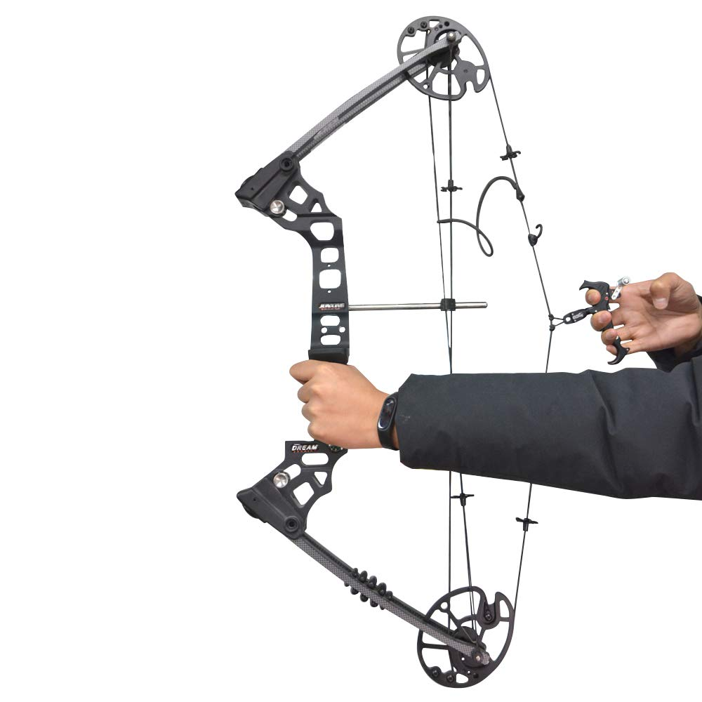 ZSHJG Archery Compound Bow Automatic Release Aids Trigger Thumb 3 Fingers 4 Fingers Adjustable 360 Swivel with Caliper Head 3//4 Finger Grip