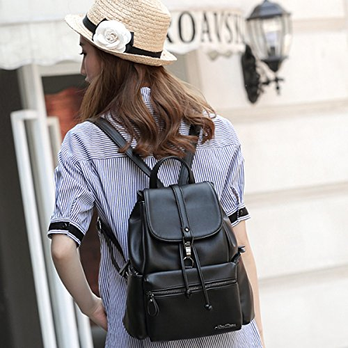 RAN Wilde Art Und Weise Beiläufige Schultertasche Aus Weichem Leder-Taschen Frauen Rucksack
