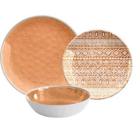 Dinnerware Set 12-Pieces Made of Melamine, Tan
