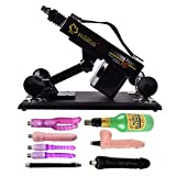 BFY Supermatic Love Sex Machine for Men and Women,Thrusting speed Adjustable,Machinegun Fast Thrust Masturbation Toy, A Variety of Accessories for User (Type-W, Black)
