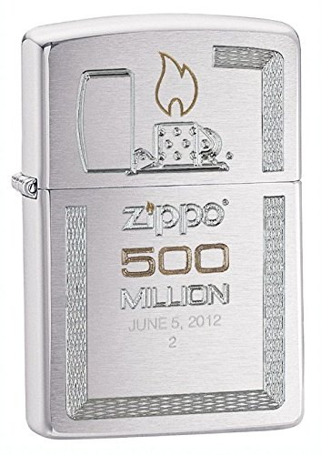 Zippo Brushed Chrome 500 Millionth Lighter, Silver
