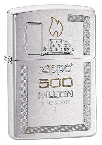 Zippo Brushed Chrome 500 Millionth Lighter, Silver ()