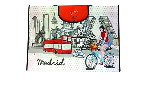 Nadal Bolsa Compra Madrid Bicicleta, Fibra, Multicolor, 55 x 40 x 14 cm: Amazon.es: Hogar