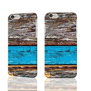 Blue old Wood Photo Plastic Hard Customized Personalized 3D Case For iPhone 6 - 4.7 inches