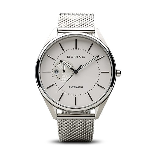 BERING Time 16243-000 Men Automatic Collection Watch with Stainless-Steel Strap and scratch resistent sapphire crystal. Designed in Denmark