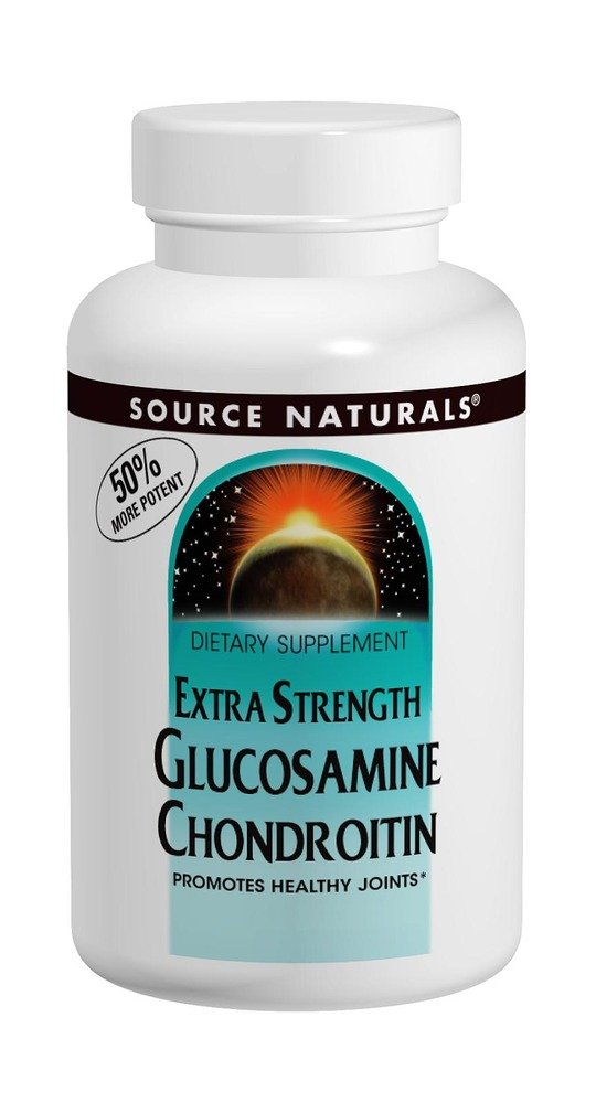 SOURCE NATURALS Glucosamine Chondroitin Extra Strength Tablet, 120 Count
