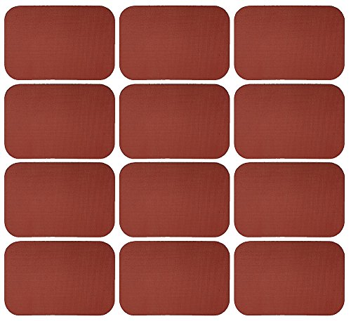 Sterling Seal 7200MDS.187.4X6X12 Closed Cell Medium Density Silicone Sponge #7200MDS ''DIY'' Gasket Material, 4'' x 6'' Rectangle with Round Corners, 3/16'' Thick (Pack of 12) by Sterling Shelf Liners