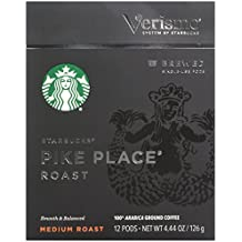 Starbucks Pike Place Roast Brewed Coffee Verismo Pods (12 Count)