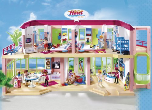 51qsWzXrS0L - PLAYMOBIL Large Furnished Hotel