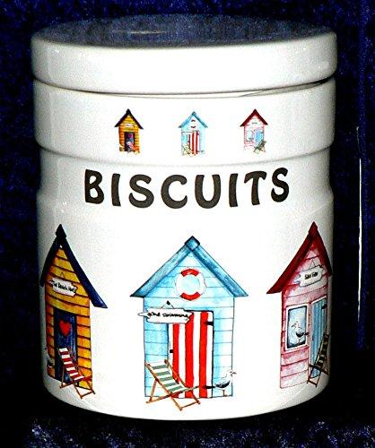 Diseño de caseta de playa tarro, bote para galletas para galletas de almacenamiento tarro: Amazon.es: Hogar
