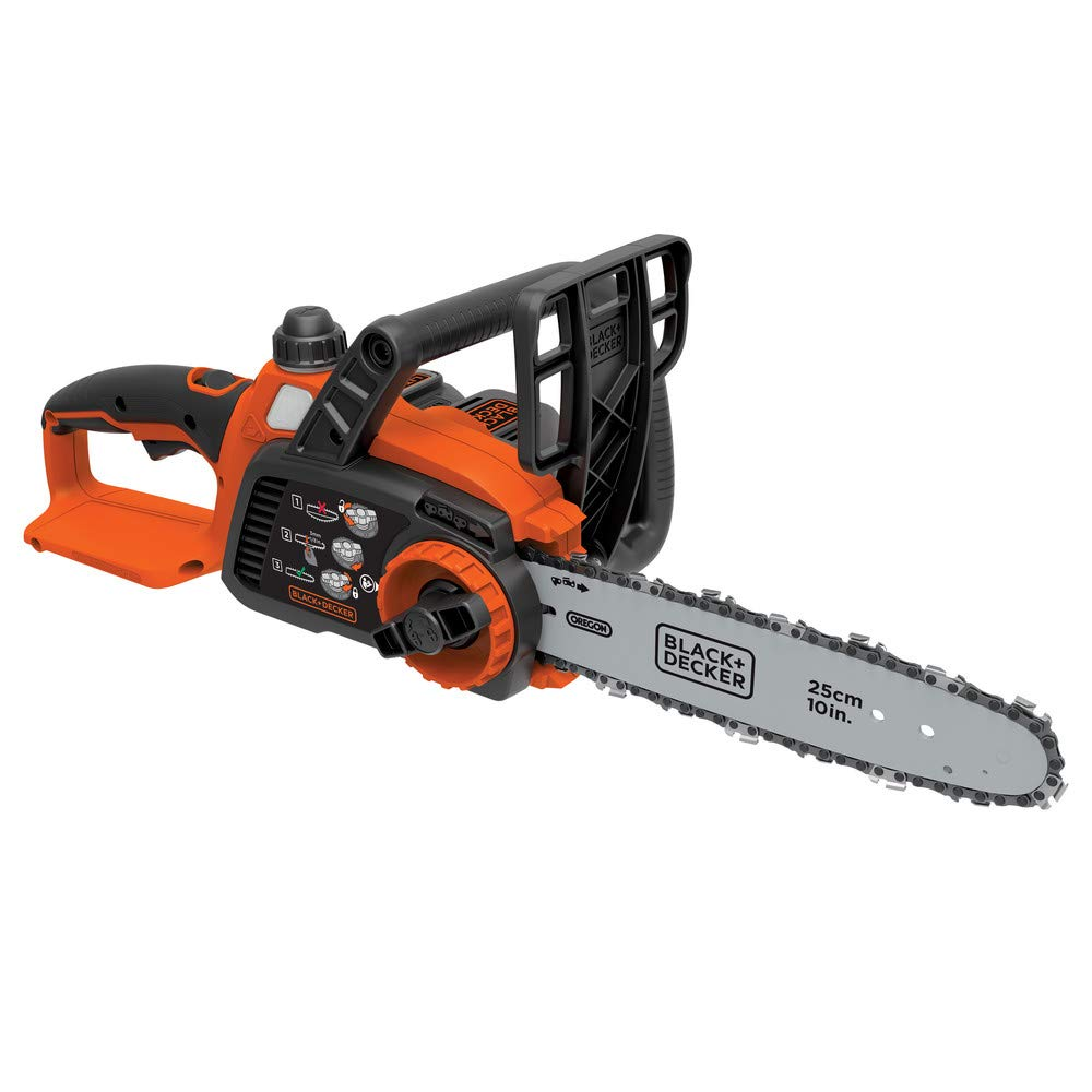 Black & Decker LCS1020R 20V MAX 2.0 Ah Cordless Lithium-Ion 10 in. Chainsaw (Certified Refurbished)