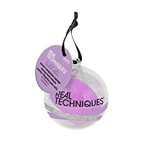 Real Techniques Miracle Complexion Sponge, Limited Edition Makeup Blender Beauty Holiday Ornament, Stocking Stuffer Gift