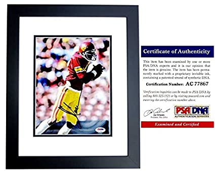fbbd1b516 Image Unavailable. Image not available for. Color  Marcus Allen Signed - Autographed  USC Trojans 8x10 inch Photo BLACK CUSTOM FRAME - PSA