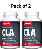 Jarrow Formulas Conjugated Linoleic Acid (CLA), Helps Maintain Lean Body Mass, 90 Softgels (Pack of 2)