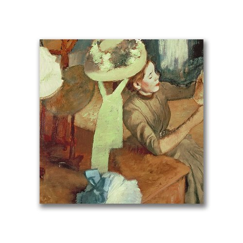 Millinery Shop Edgar Degas - The Millinery Shop by Edgar Degas, 14x14-Inch Canvas Wall Art