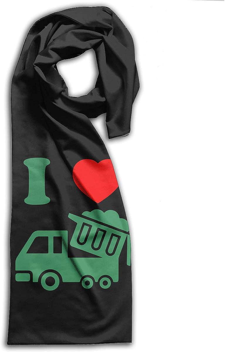 I Love Trash Trucks Adults Winter Warm Scarf Fashion Scarves Shawl Gift