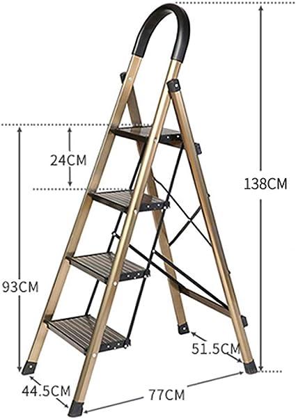 Escaleras Escalera de 4 peldaños, Escalera plegable de aluminio, Escalera de tijera segura, Escalera telescópica, Escalera de extensión, Oficina de usos múltiples en el jardín Loft Escalera de techos,: Amazon.es: Bricolaje y