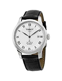 Tissot Men's T-Classic Le Locle 39mm Black Leather Band Steel Case Automatic Analog Watch T41.1.423.33