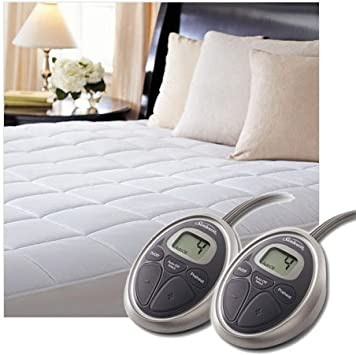 Cal King Size Sunbeam SelectTouch Premium Quilted Electric Heated Mattress Pad
