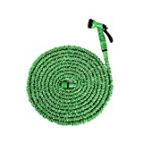 Ohuhu 50 Feet Expandable Garden Hose with Brass Connector and Spray Nozzl
