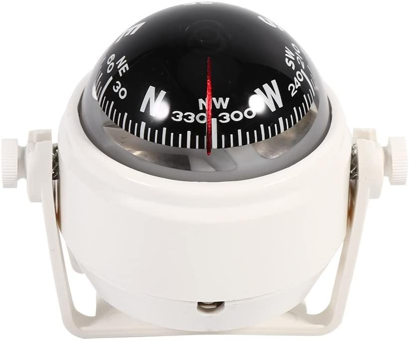 fo sa Multi-Purpose Digital Compass, Voyager Bracket Mount Compass Sea Marine Bracket Mount Compass Voyager Outside Fits Car Boat Caravan Truck Watercraft(Black) : Electronics