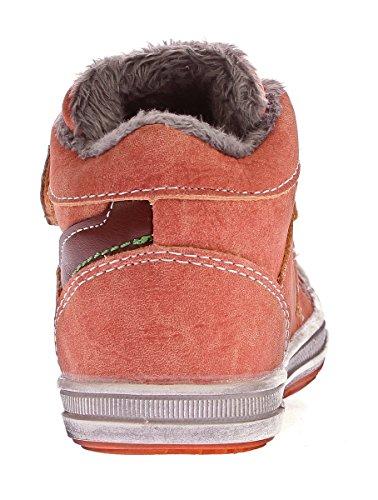 Slobby Kinder Knöchel Schuhe Gefüttert Jungen Mädchen Sneaker Halbhoch Klettverschluss Gr. 22-27 Orange