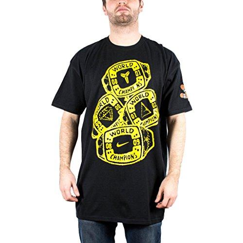 Nike Men's Kobe 4 Rings Tee Shirt 3XL Black