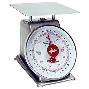 Update International (UPS-72) 2 Lb S/S Analog Portion Control Scale