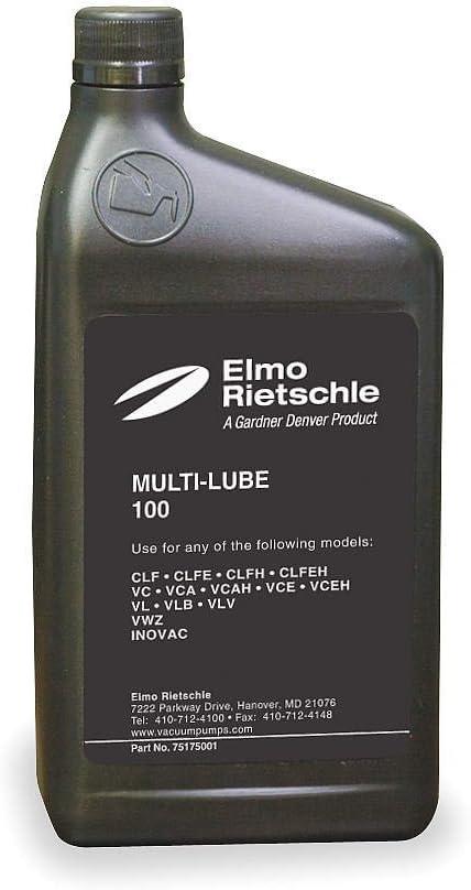 ELMO RIETSCHLE 75175001 Vacuum Pump Oil,Mineral,1 Qt,100 Grade