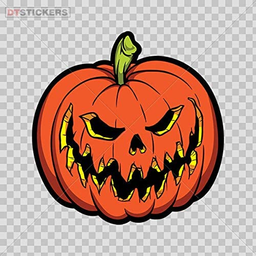 Amazon Com Vinyl Sticker Decal Evil Scary Pumpkin Halloween Atv Car Garage Bike 3 X 2 97 In Kitchen Dining