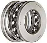 NSK 51206 Thrust Bearing, Single Row, 3 Piece, Grooved Race, Pressed Steel Cage, Metric, 30mm Bore, 52mm OD, 16mm Width, 3400rpm Maximum Rotational Speed, 58000N Static Load Capacity, 29500N Dynamic Load Capacity