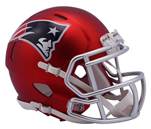 New England Patriots - Blaze Alternate Speed Riddell Mini Football Helmet - New in Riddell Box